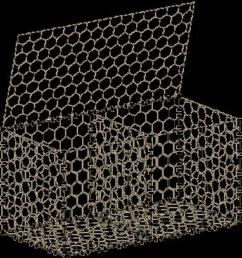 Габион от хексагонална мрежа