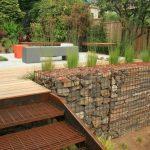 етажи в градината с помощта на габиони